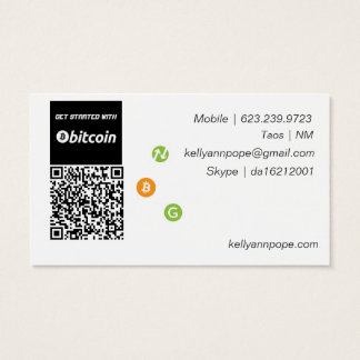 Bitcoin Consultant Business Card