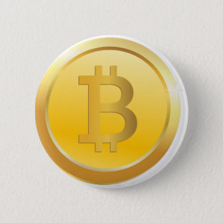 Bitcoin Cryptocurrency Pinback Button
