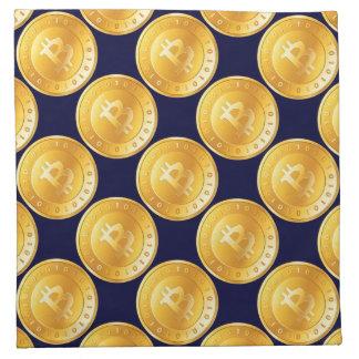 Bitcoin currency with binary code - M1 Napkin