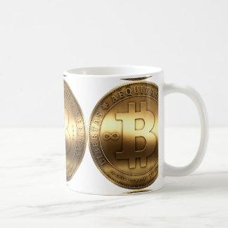 Bitcoin de cobre amarillo taza clásica