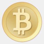 Bitcoin Etiqueta Redonda