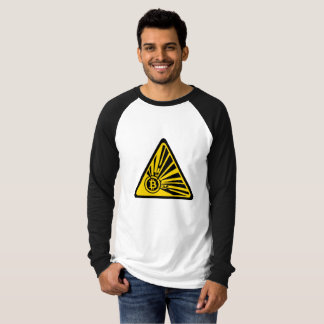 Bitcoin Explosion - Long Sleeve Raglan T-Shirt