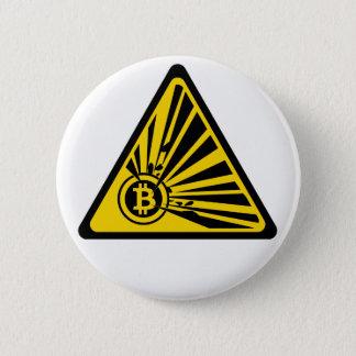 Bitcoin Explosion Risk - 2¼ Inch Round Button