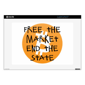 Bitcoin - Free the Market End the State Laptop Skin