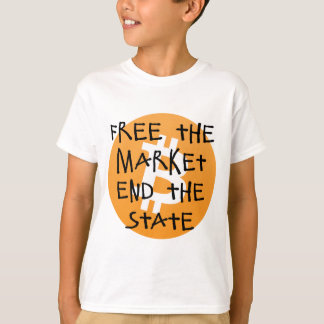 Bitcoin - Free the Market End the State T-Shirt
