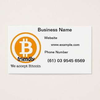 Bitcoin Friendly Business Cards