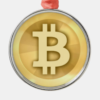Bitcoin gifts metal ornament