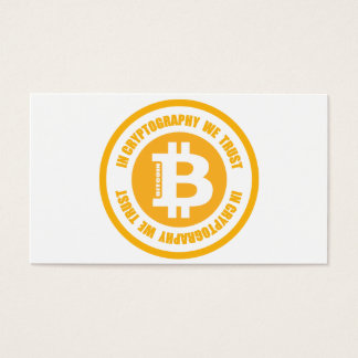 Bitcoin In Cryptography We Trust Business Card