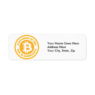 Bitcoin In Cryptography We Trust Label