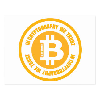 Bitcoin In Cryptography We Trust Postcard
