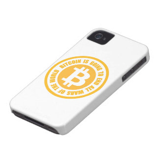 Bitcoin Is Going To End All Wars Of The World iPhone 4 Case