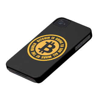 Bitcoin Is Going To End All Wars Of The World iPhone 4 Case-Mate Case
