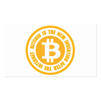 Bitcoin Is The New Invention After The Internet Business Card Templates