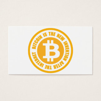 Bitcoin Is The New Invention After The Internet Business Card