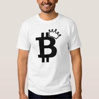 Bitcoin King Black Logo Design T-shirts