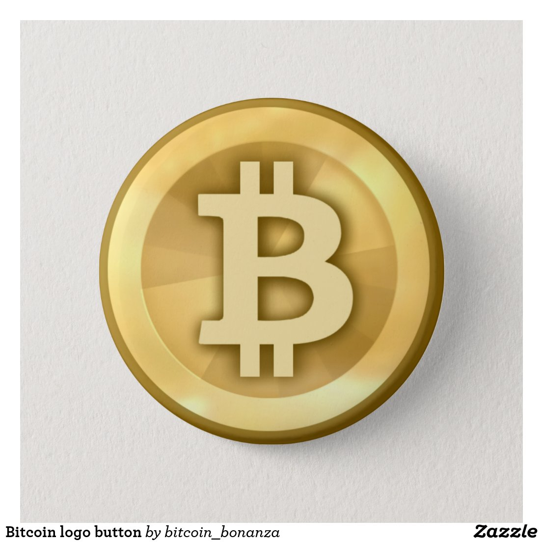Bitcoin logo button