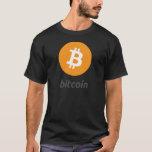 Bitcoin logo con escritura playera