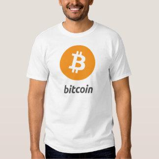 Bitcoin logo con escritura remeras