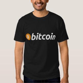Bitcoin logo escritura camisas