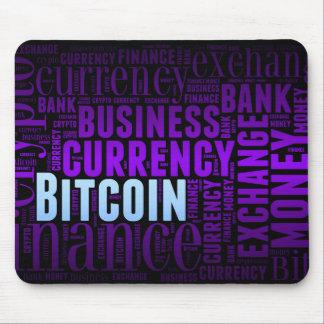 Bitcoin logo graphic wordart mouse pad