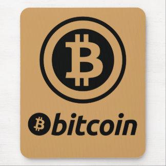 Bitcoin logo mouse pad