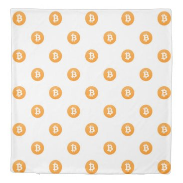 Bitcoin Logo Pattern Duvet Cover