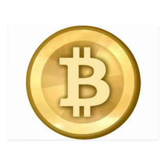 Bitcoin logo post card