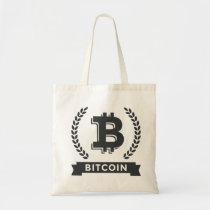 Bitcoin logo simple bag