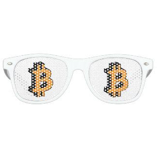 Bitcoin Logo Symbol Crypto Sign Retro Sunglasses