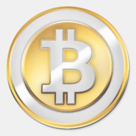 Bitcoin Logo Symbol Cryptocurrency Crypto Sticker | Zazzle.com
