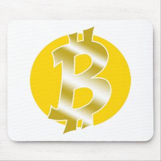 bitcoin logo symbol handdrawn mouse pad