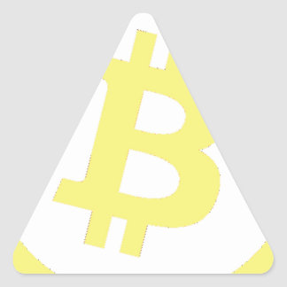 Bitcoin Logo Triangle Sticker