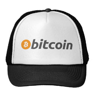 Bitcoin logo writing trucker hat