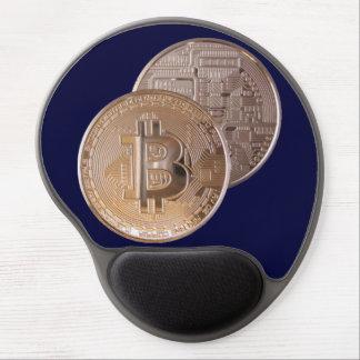 Bitcoin metallic made of copper. M1 Alfombrillas De Ratón Con Gel