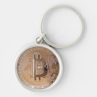 Bitcoin metallic made of copper. M1 Llavero Redondo Plateado