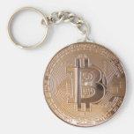 Bitcoin metallic made of copper. M1 Llaveros