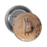 Bitcoin metallic made of copper. M1 Pin Redondo De 2 Pulgadas