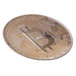 Bitcoin metallic made of copper. M1 Platos De Comidas
