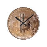 Bitcoin metallic made of copper. M1 Reloj De Pared