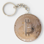 Bitcoin metallic made of to copper. M1 Basic Round Button Keychain