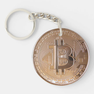 Bitcoin metallic made of to copper. M1 Acrylic Key Chains