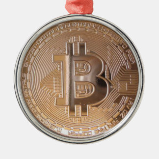 Bitcoin metallic made of to copper. M1 Metal Ornament