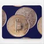 Bitcoin metallic made of to copper. M1 Mousepads