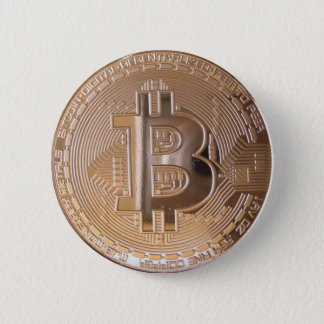 Bitcoin metallic made of to copper. M1 Pinback Button