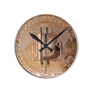 Bitcoin metallic made of to copper. M1 Round Clock