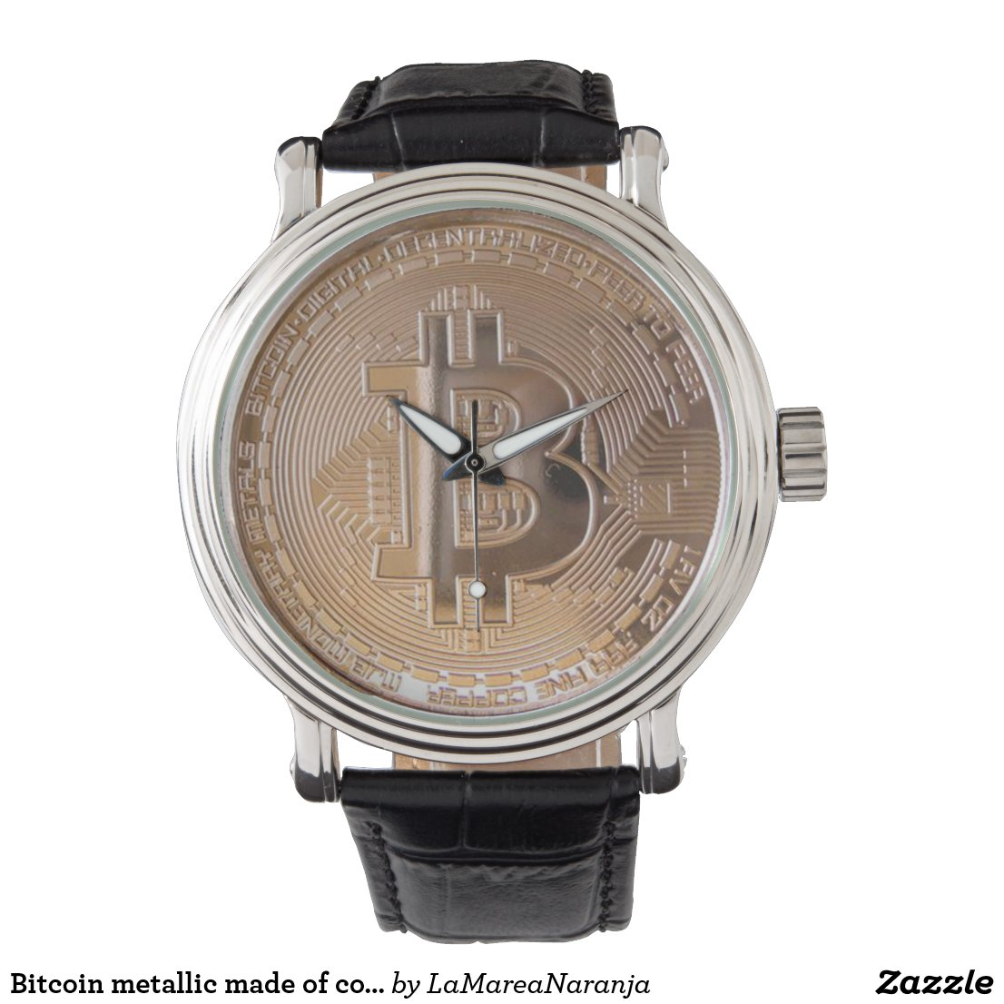Bitcoin metallic made of to copper. M1 Wrist Watch