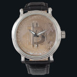 """Bitcoin metallic made of to copper. M1 Wrist Watch<br><div class=""""desc"""">Bitcoin metallic made of to copper. You dog read """"Bitcoin decentralized to peer to peer"""". This product is just one example,  is available in various sizes and styles. Whether you like Bitcoin for ace if looking an original gift enters the shop and choose the one you like. http://www.zazzle.es/lamareanaranja</div>"""