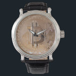 "Bitcoin metallic made of to copper. M1 Wrist Watch<br><div class=""desc"">Bitcoin metallic made of to copper. You dog read ""Bitcoin decentralized to peer to peer"". This product is just one example,  is available in various sizes and styles. Whether you like Bitcoin for ace if looking an original gift enters the shop and choose the one you like. http://www.zazzle.es/lamareanaranja</div>"