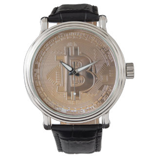 Bitcoin metallic made of to copper. M1 Wrist Watch