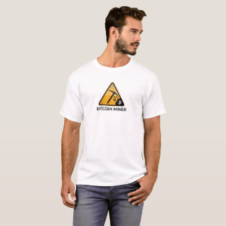 Bitcoin Miner Mining Crypto Coin Currency T-Shirt